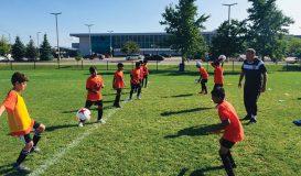Kids Playing Soccer In Brampton